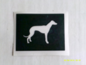 12 x Greyhound / Whippet dog stencils for etching on glass hobby craft
