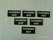 10 x Fathers Day word stencils for etching on glass glassware gift present