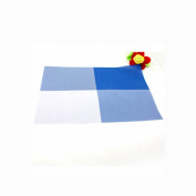 Durable Insulation PVC Coffee Coaster Mat Placemats Plaid Pad Dining Table Desk Blue