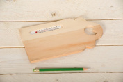 Artemio 24 x 14 cm Wooden Board Thermometer, Beige