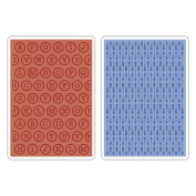 Sizzix Textured Impressions Embossing Folders Arrows and Typewriter Keys by Jillibean Soup for Hampton Art, Pack of 2