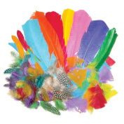 Creation Station 100 g New Feathers Bumper School Pack , Assorted Styles and Colours