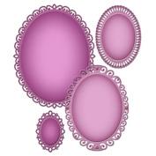 Spellbinder Paper Arts Nestabilties Die Elegant Ovals Decorative Elements, Gold