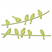 Spellbinder Paper Arts Birds on A Wire in Spire Shapeabilities Die, Gold