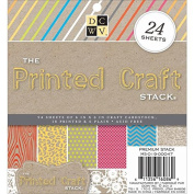 Die Cuts With View 15cm x 15cm Printed Craft Mat Stack Sheet, Pack of 24,
