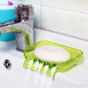Soap holder with drain bathroom accessory molds for soap sink sponge soap dish plastic box green