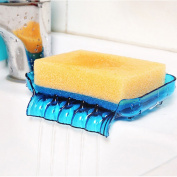 Soap holder with drain bathroom accessory molds for soap sink sponge soap dish plastic box blue