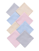 """Microfiber Cleaning Cloths 8 Pcs, 8"""" x 8"""" (20cm x 20cm) Extra Large for Camera Lens Laptops Eyeglass Tablets and Other Delicate Screens"""