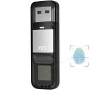 Farsler 32GB High-speed Recognition Fingerprint Encrypted Pen Drive Dual Storage Security Memory USB Stick