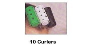 Carmen 10 X Hair Styling Curlers Hair Rollers To Curl Wave Your Hair