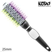 KODO Hair Brush Professional 25mm Heat Retaining Vented Radial Nylon & Silicone