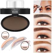 Kamoku101 Natural Eyebrow Powder Makeup Brow Stamp Palette Delicated Shadow Definitiat