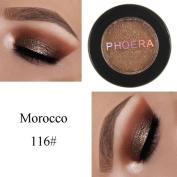 FEITONG PHOERA Glitter Shimmering Colours Eyeshadow Metallic Eye Cosmetic