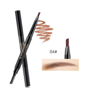 NICEFACE Precision Waterproof Brow Liner Double Ended Eyebrow Pencil With Eyebrow Brushes Tools 5 Colours light brown Pack Of 1