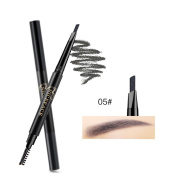 NICEFACE Precision Waterproof Brow Liner Double Ended Eyebrow Pencil With Eyebrow Brushes Tools 5 Colours grey Pack Of 1