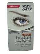 Swiss O' Par Eyelash and Brow Dye Kit (Black) by SwissoPar