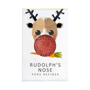 Konjac Christmas Mini Rudolph Pore Refiner with Red French Clay
