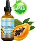 PAPAYA SEED OIL WILD GROWTH. 100% Pure / Natural / Undiluted/ Virgin / Unrefined Cold Pressed Carrier Oil. For Skin, Hair, Lip and Nail Care 2 Fl. oz. - 60 ml.