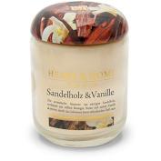 Heart & Home Large Scented Candle – Sandalwood & Vanilla/Sand – Sandalwood & Vanilla 350ml