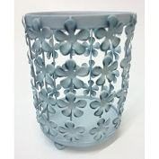 Heart & Home Candle Holder Small Blue Flowers, 200 g