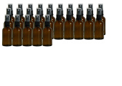 25 x 50ml Amber Glass Bottles with atomisers - Post Free