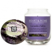 Heart & Home Lavender and Sage Small Candle 115 gr