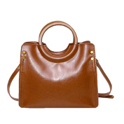 Womens High Quality Greased Leather Handbags Leather Bag Shoulder Bag