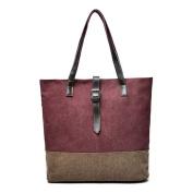 Beatsport Simple Canvas Handbag Large Capacity Shoulder Bags Retro Cloth Commuter Bag for Women
