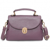 Great Strange Lady Oblique Cross Package Sweet Elegant Handbag Single Shoulder Bag Shopping Work , light purple