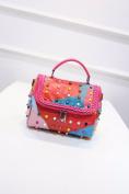 Handbag Fashion Handbag Rivet Handbag , multicolor