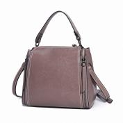 Leather Handbags Oil Wax Leather Fashion All Match Handbag Shoulder Messenger Bag , a