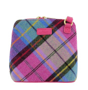 Ness Issy Wee Tweed Small Cross-body Bag- Bright Pink Cheque