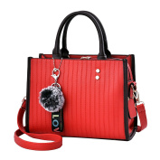 YouPue Rectangle Ladies Handbags Shoulder Handbags with Cute Hairball Soft PU Leather Bags for Office Work