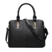 BIUBIUboom Women PU Leather Shoulder Bags Top Handle Handbags Tote Bags