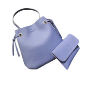 Espeedy 2 Pcs Fashion Women PU Leather Shoulder Messenger Bag with Handbag Purse Office Casual Tote Bags