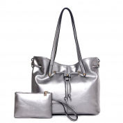 ANNE Oil Layer Leather Shoulder Bags for Women's Handbags with Small Clutch Bag
