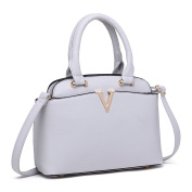 Miss Lulu Tote Handbag Trendy Design Small Size Great Shape Zip Top Handle Bags for Women Girls