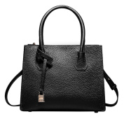 SAIERLONG Ladies Designer Womens Black First Layer Of Leather Handbags Tote Shoulder Bags