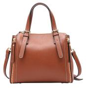 SAIERLONG Ladies Designer Womens Brown Genuine Leather Handbags Tote Shoulder Bags