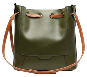 SAIERLONG Ladies Designer Womens Green First Layer Of Leather Handbags Tote Shoulder Bags