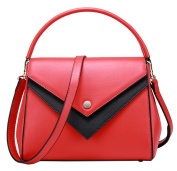 SAIERLONG Ladies Designer Womens Red Genuine Leather Handbags Tote Shoulder Bags