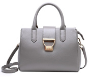 SAIERLONG Ladies Designer Womens Grey First Layer Of Leather Handbags Tote Shoulder Bags