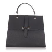 Laura Moretti - Smooth and metallic leather handbag bag
