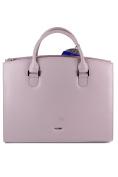 Picard Berlin 4229 Slightly Grained Leather Handbag Mauve Lilac – 36x30x11 cm