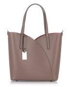 Laura Moretti - Leather tulip shaped TOTE bag