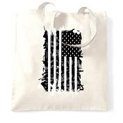 American Flag Frag Grenade Shopping Tote Bag Cool Birthday Gift Present