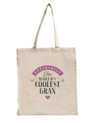 Gran Birthday or Christmas Gift Bag, Tote, Shopping Bag, Birthday Gift, Present, Gifts For Women, Worlds Coolest Gran