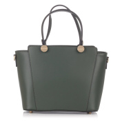 Laura Moretti - Leather TOTE bag with screw charms