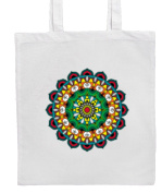 Boho/Hippy/Chic Green MANDALA Shopping/Tote/Bag For Life/Shoulder Bag By Mayzie Designs®