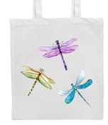DRAGONFLIES Shopping/Tote/Bag For Life/Shoulder Bag By Mayzie Designs®
